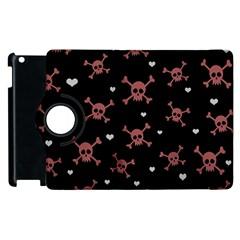 Skull Pattern Apple Ipad 2 Flip 360 Case by ValentinaDesign