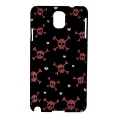 Skull Pattern Samsung Galaxy Note 3 N9005 Hardshell Case by ValentinaDesign