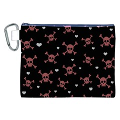 Skull Pattern Canvas Cosmetic Bag (xxl) by ValentinaDesign