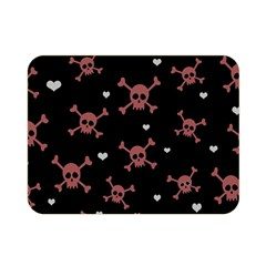 Skull Pattern Double Sided Flano Blanket (mini)  by ValentinaDesign