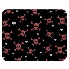 Skull Pattern Double Sided Flano Blanket (medium)  by ValentinaDesign