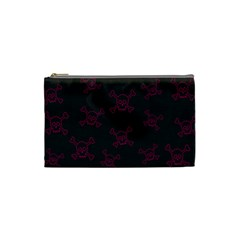 Skull Pattern Cosmetic Bag (small)  by ValentinaDesign