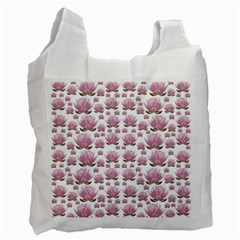 Lotus Recycle Bag (two Side)  by ValentinaDesign