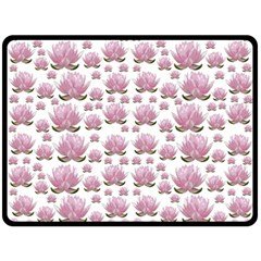 Lotus Double Sided Fleece Blanket (large)  by ValentinaDesign