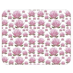 Lotus Double Sided Flano Blanket (medium)  by ValentinaDesign