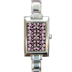 Lotus Rectangle Italian Charm Watch by ValentinaDesign