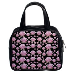 Lotus Classic Handbags (2 Sides) by ValentinaDesign