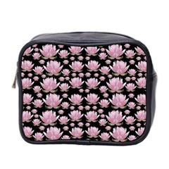 Lotus Mini Toiletries Bag 2 Side by ValentinaDesign