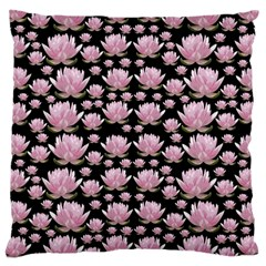 Lotus Large Cushion Case (two Sides) by ValentinaDesign
