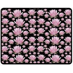 Lotus Double Sided Fleece Blanket (medium)  by ValentinaDesign