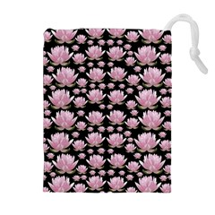 Lotus Drawstring Pouches (extra Large) by ValentinaDesign