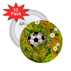 Ball On Forest Floor 2 25  Buttons (10 Pack)  by linceazul