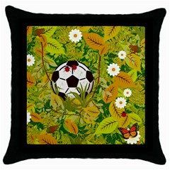 Ball On Forest Floor Throw Pillow Case (black) by linceazul