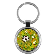 Ball On Forest Floor Key Chains (round)  by linceazul