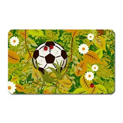 Ball On Forest Floor Magnet (rectangular) by linceazul