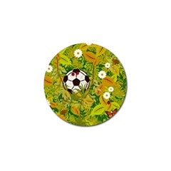 Ball On Forest Floor Golf Ball Marker by linceazul