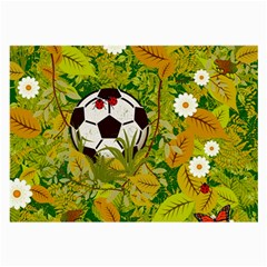 Ball On Forest Floor Large Glasses Cloth by linceazul