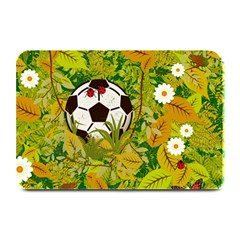 Ball On Forest Floor Plate Mats by linceazul