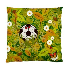 Ball On Forest Floor Standard Cushion Case (two Sides) by linceazul