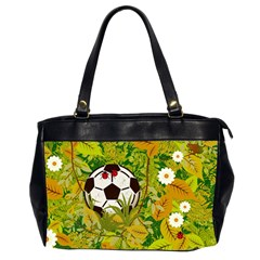 Ball On Forest Floor Office Handbags (2 Sides)  by linceazul