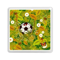 Ball On Forest Floor Memory Card Reader (square)  by linceazul