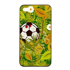 Ball On Forest Floor Apple Iphone 4/4s Seamless Case (black) by linceazul