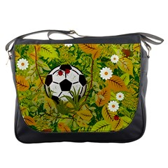 Ball On Forest Floor Messenger Bags by linceazul