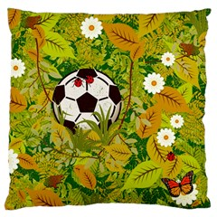 Ball On Forest Floor Large Cushion Case (one Side) by linceazul
