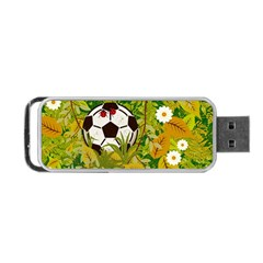 Ball On Forest Floor Portable Usb Flash (two Sides) by linceazul