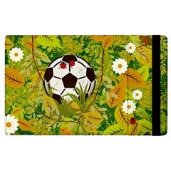 Ball On Forest Floor Apple Ipad 3/4 Flip Case by linceazul