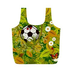 Ball On Forest Floor Full Print Recycle Bags (m)  by linceazul