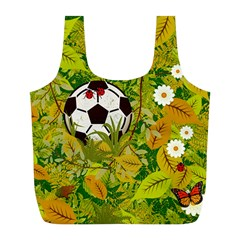 Ball On Forest Floor Full Print Recycle Bags (l)  by linceazul