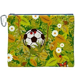 Ball On Forest Floor Canvas Cosmetic Bag (xxxl) by linceazul