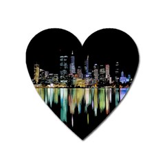 City Panorama Heart Magnet by Valentinaart