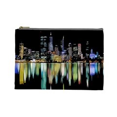 City Panorama Cosmetic Bag (large)  by Valentinaart