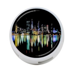 City Panorama 4 Port Usb Hub (two Sides)  by Valentinaart