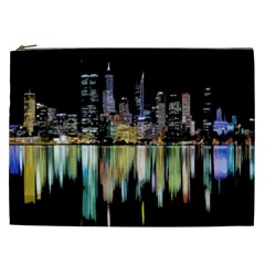 City Panorama Cosmetic Bag (xxl)  by Valentinaart