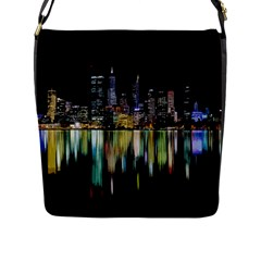 City Panorama Flap Messenger Bag (l)  by Valentinaart