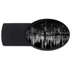 City Panorama Usb Flash Drive Oval (2 Gb) by Valentinaart