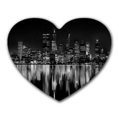 City Panorama Heart Mousepads by Valentinaart