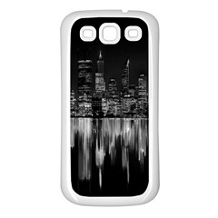 City Panorama Samsung Galaxy S3 Back Case (white) by Valentinaart