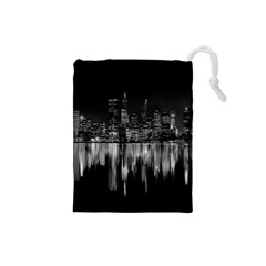City Panorama Drawstring Pouches (small)  by Valentinaart