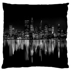 City Panorama Standard Flano Cushion Case (one Side) by Valentinaart