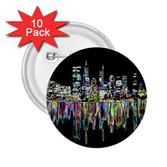 City Panorama 2 25  Buttons (10 Pack)  by Valentinaart