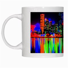 City Panorama White Mugs by Valentinaart