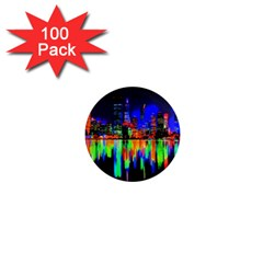 City Panorama 1  Mini Magnets (100 Pack)  by Valentinaart