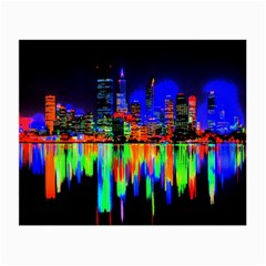 City Panorama Small Glasses Cloth (2 Side) by Valentinaart