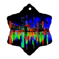 City Panorama Ornament (snowflake) by Valentinaart