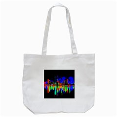 City Panorama Tote Bag (white) by Valentinaart