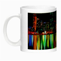 City Panorama Night Luminous Mugs by Valentinaart